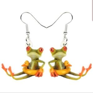 Jewelry - *BOGO tubing frog earrings